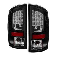 Spyder Gen 2 Black LED Tail Lights 07-08 Dodge Ram