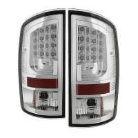 Spyder Gen 2 Clear LED Tail Lights 07-08 Dodge Ram