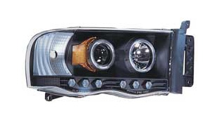 IPCW Black Halogen Projector Headlights 02-05 Dodge Ram