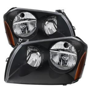XTune Black Crystal Headlights 05-07 Dodge Magnum