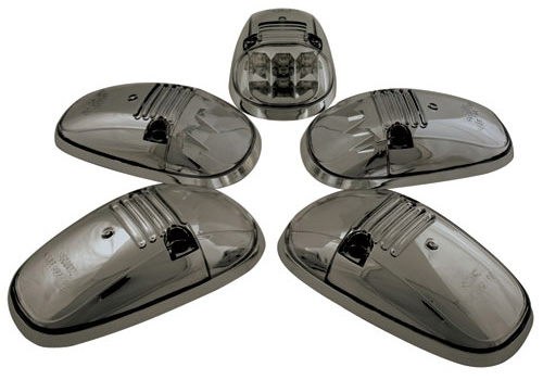 IPCW Smoked-Chrome LED Roof Cab Lights 94-01 Dodge Ram