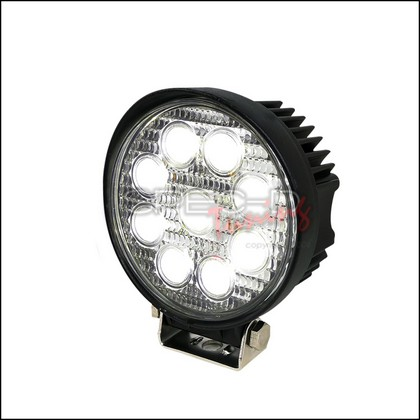 "Spec-D Universal 4.5"" Round 9 LED Black Trim Work Lights"