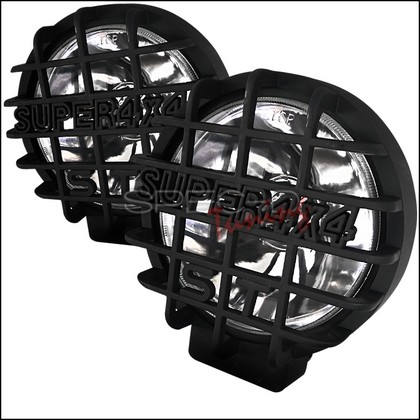 "Spec-D Universal 6.5"" Round Work Lamps with Black Mesh Guards"