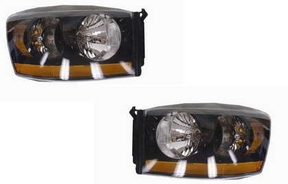 TYC Nightrunner Headlights 06-08 Dodge Ram