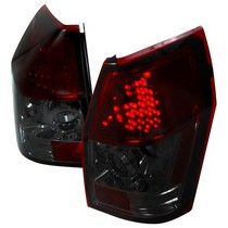 Spec-D Smoke LED Tail Light Set 05-08 Dodge Magnum