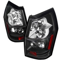 Spec-D Black Clear Lens Tail Light Set 05-08 Dodge Magnum