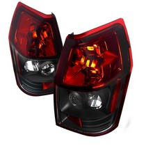 Spec-D Black-Red Lens Tail Light Set 05-08 Dodge Magnum