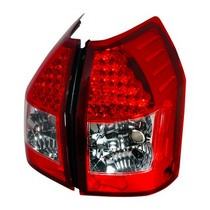 Spec-D Red LED Tail Light Set 05-08 Dodge Magnum