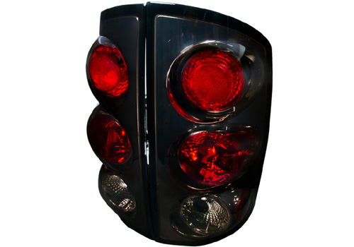 Spec-D Black Housing Smoke Lens Tail Lights 02-06 Dodge Ram