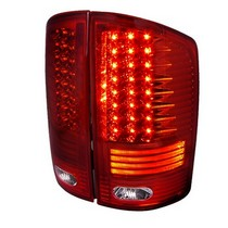 Spec-D Red LED Tail Lights 02-06 Dodge Ram