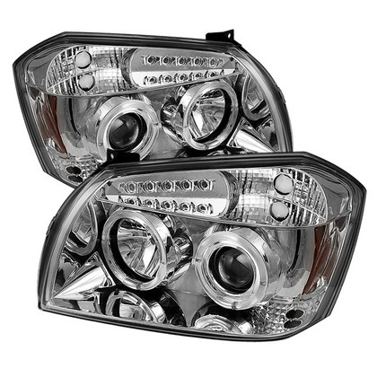 Spyder LED Projector Chrome Headlights 05-07 Dodge Magnum