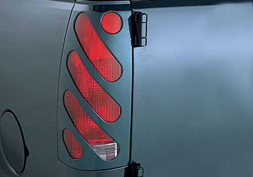 V-Tech Black Paintable Slotted Tail Light Covers 02-06 Dodge Ram