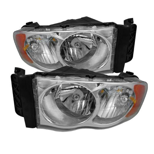 Spyder Chrome Crystal Headlights 02-05 Dodge Ram