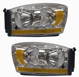 TYC Chrome Replacement Headlights 06-08 Dodge Ram