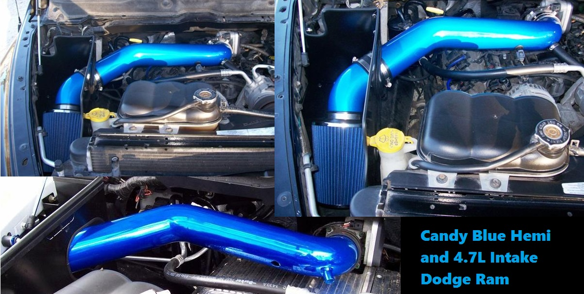 3SP Powdercoated Long Intake System 02-08 Dodge Ram 3.7L V6