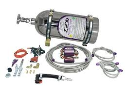 ZEX Nitrous Polished 10 LB Wet Nitrous System 75-125 HP