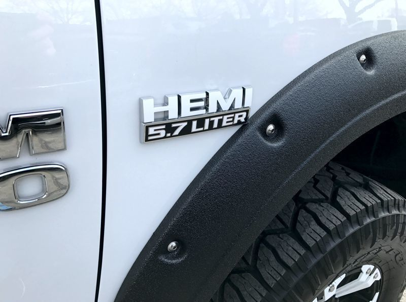 """Hemi 5.7 Liter"" Door Decal Overlay Kit 13-18 Dodge Ram"
