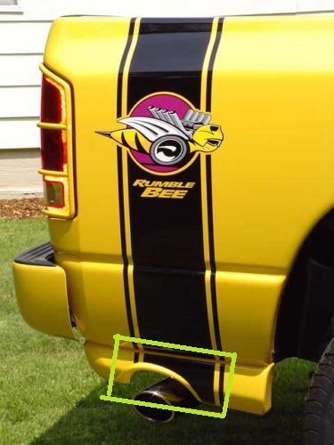 Rumble Bee Custom Body Stripe Extension Decals