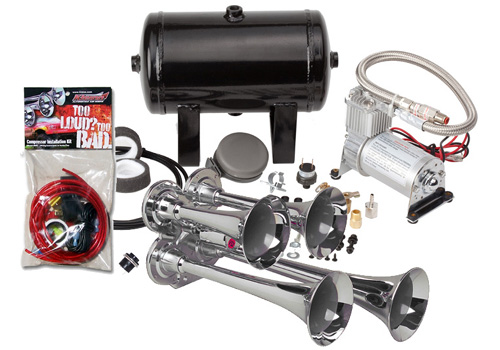 Kleinn 149.8db Compact Quad Air Horn Kit