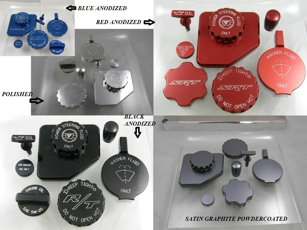 Billet Technology Engine Cap Kit 05-up LX Cars 3.5,3.6,5.7,6.1