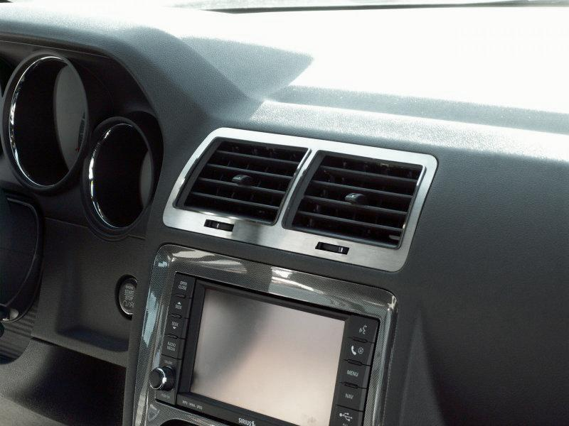 Brushed Stainless 5Pc A/C Vent Trim 08-14 Dodge Challenger