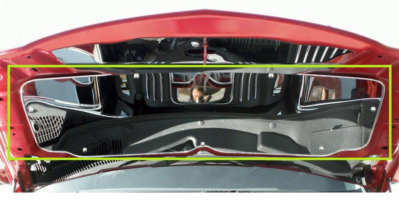 Polished Stainless Hood Panel 05-10 Magnum,Charger,Chrysler 300