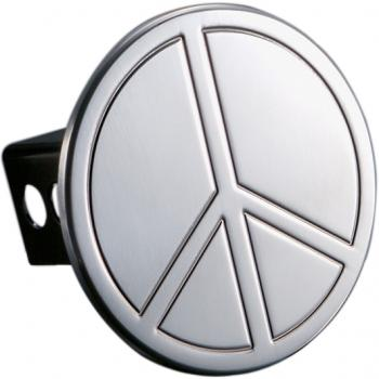 All Sales Billet Peace Sign Hitch Plug