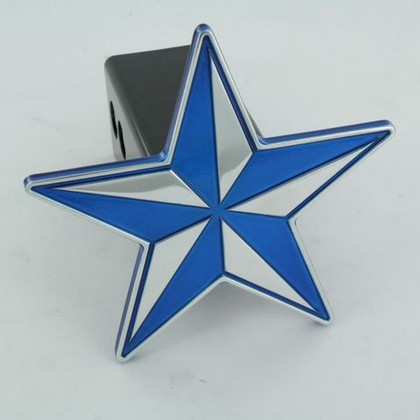 All Sales Billet Blue Nautical Star Hitch Plug