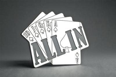 All Sales Billet ALL IN Playing Cards Hitch Plug