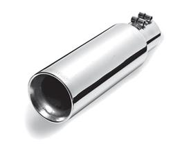 Gibson Performance 2.5 in. Polished Exhaust Tip 8.0 in. Long