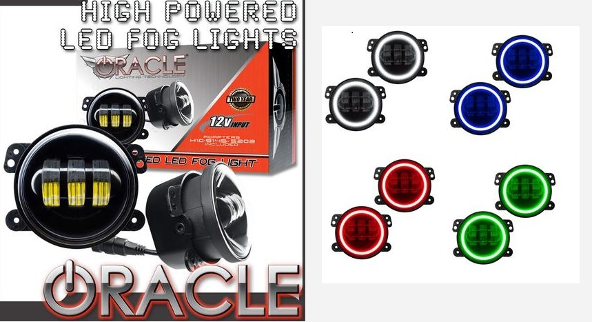 ORACLE Hi Power Plasma Fog Lights Challenger,Magnum,Charger,300