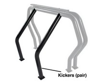 GoRhino Bed Bar Kicker Bars Behind Wheel Wells 73-18 Dodge Ram