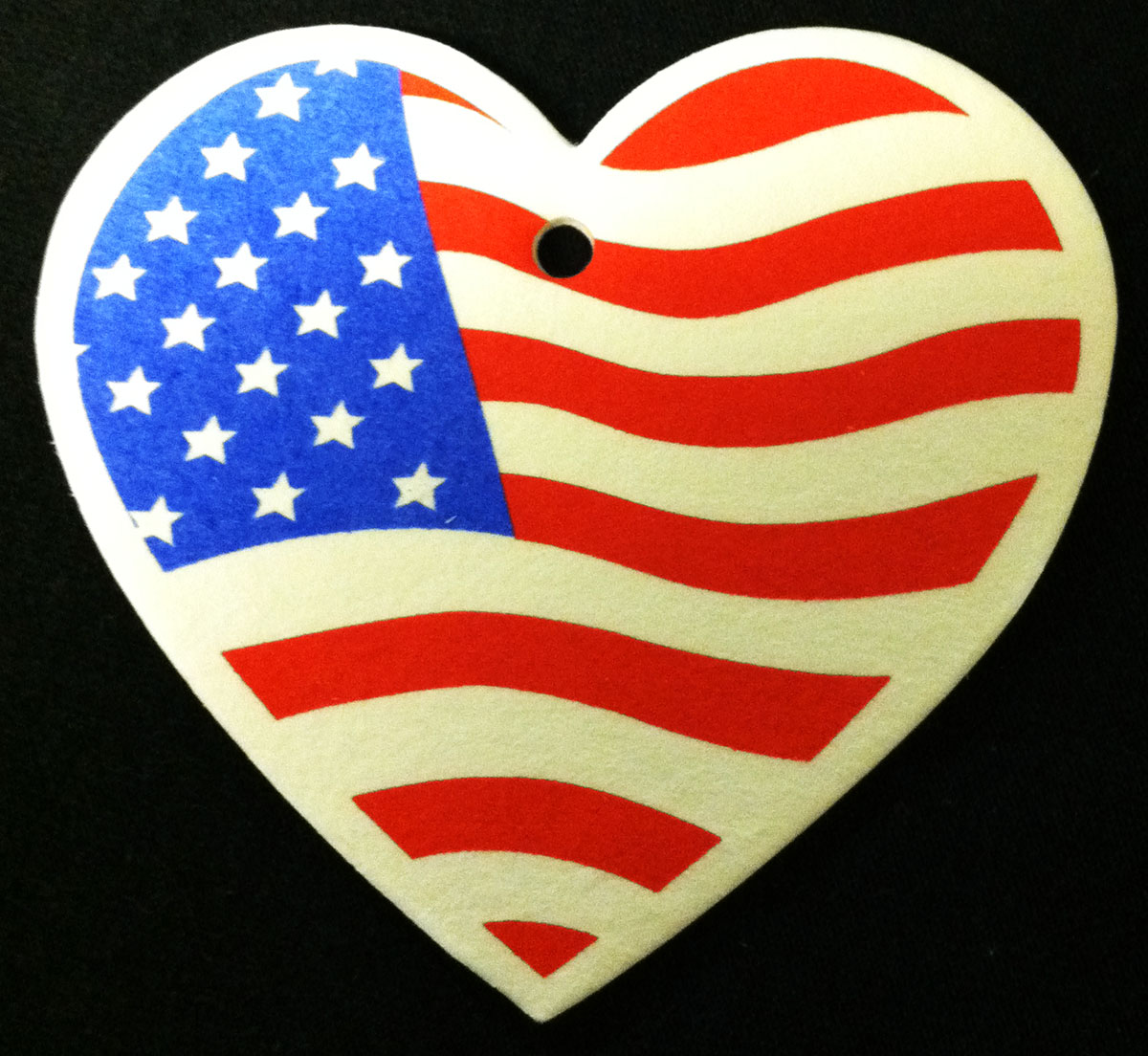Heart USA American Flag Air Freshener