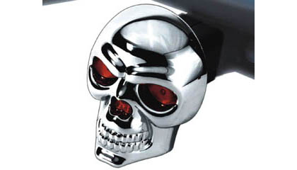 Bully Diecast Skull Hitch Cover with Brake Light