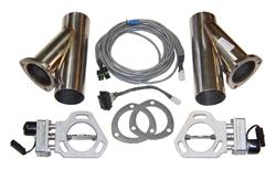Pypes Performance Dual 2.5 Inch Electric Exhaust Cutout Kit
