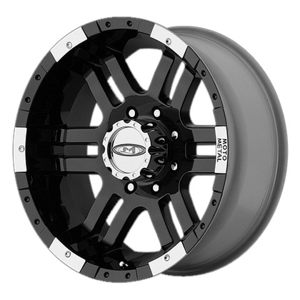 "MO951 Gloss Black-Machined Wheel 20""x9"" 94-18 Dodge Ram 1500"
