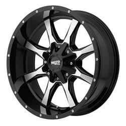 "MO970 Gloss Black-Machined Wheel 20""x9"" 94-18 Dodge Ram 1500"