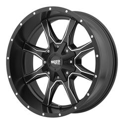 "MO970 Satin Black-Machined Wheel 20""x9"" 94-18 Dodge Ram 1500"