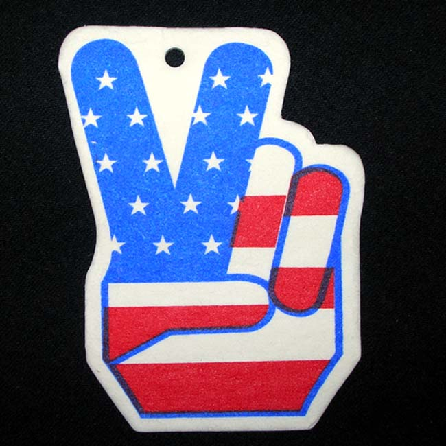 Peace American Flag Air Freshener