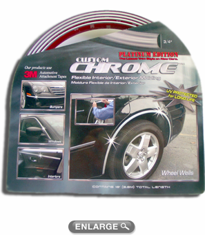 "Chrome Flexible Interior-Exterior Molding 3/4"" Wide"