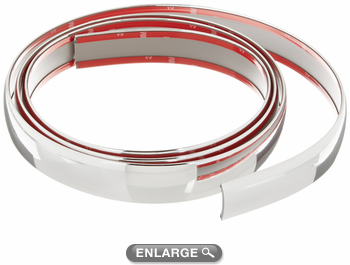 "Chrome Flexible Exterior Molding 1 3/8"" Wide"