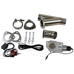 Stainless Steel Pipe Single 2.5 Inch Electric Exhaust Cutout Kit