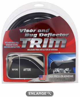 Chrome/Black Bug Deflector & Window Visor Trim