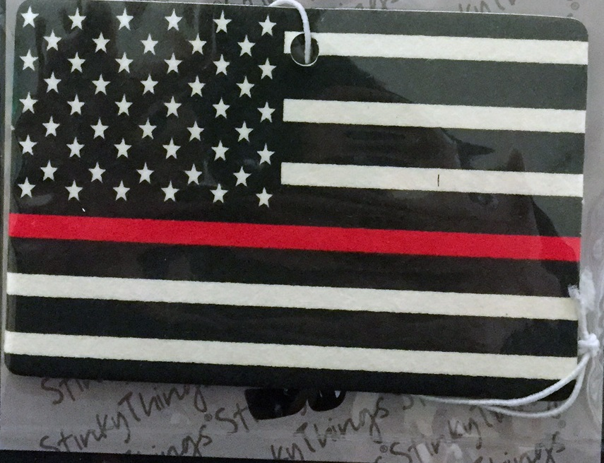 Thin Red Line Flag Air Freshener