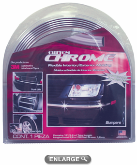 "Chrome Flexible Interior-Exterior Molding 1/2"" Wide"
