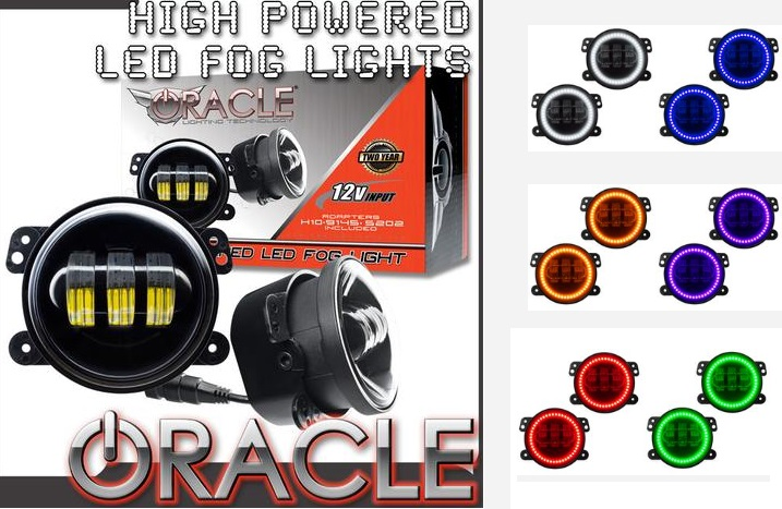 ORACLE High Powered LED Fog Lights Challenger,Magnum,Charger,300