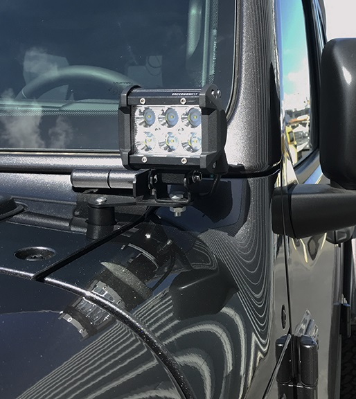Jeep JL Wrangler A-Pillar Light Brackets