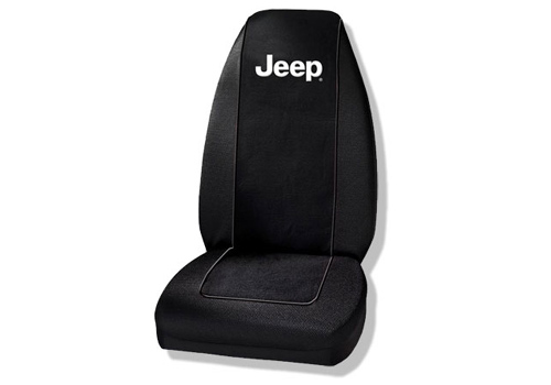 Jeep Logo Black Bucket Seat Cover